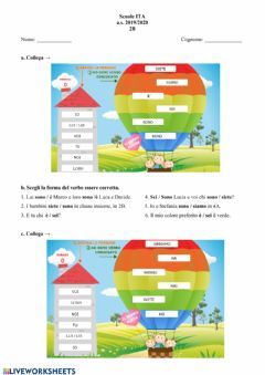 Interactive worksheet Compito 24 aprile 2020