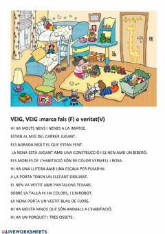 Interactive worksheet L'habitació