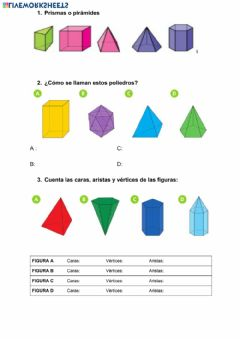 Interactive worksheet Prismas 1