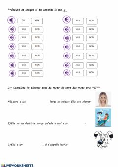 Interactive worksheet Le son S