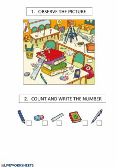 Interactive worksheet COUNT AND WRITE