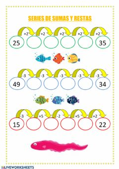 Interactive worksheet Series ascendentes y descendentes 1º