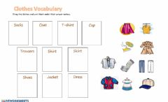 Interactive worksheet Clothes Vocabulary
