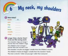 Ficha interactiva Practicing body parts and comparisons