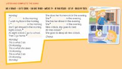 Interactive worksheet MONDAY! - Daily Routines
