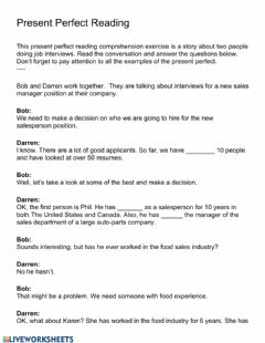 Interactive worksheet Reading and wordsearch