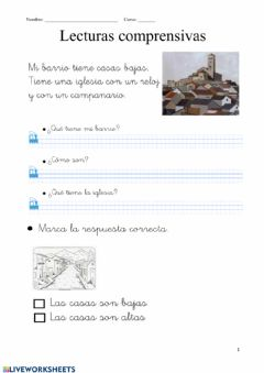 Interactive worksheet Lecturas comprensivas sencillas1
