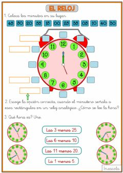 Interactive worksheet Relojes 2