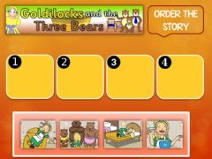 Interactive worksheet Sequence story Goldilocks and the three bears