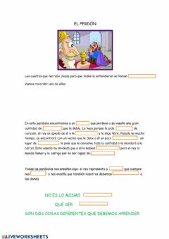 Interactive worksheet El rey que perdona