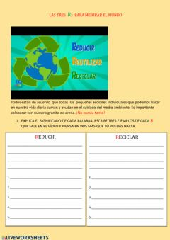 Interactive worksheet LAS TRES Rs