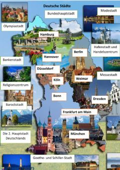 Interactive worksheet Deutsche Staedte