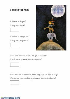 Interactive worksheet A taste of the moon