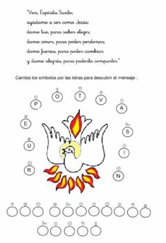 Interactive worksheet Frase escondida Pentecostés