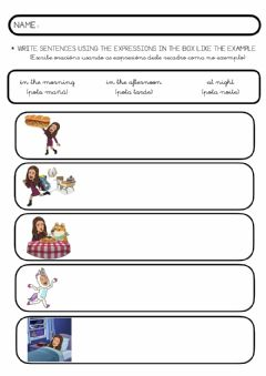 Interactive worksheet ROUTINES - worksheet 2