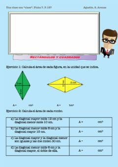 Interactive worksheet Área del rombo