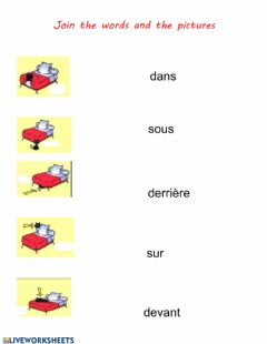 Ficha interactiva Preposition-prépositions (french)