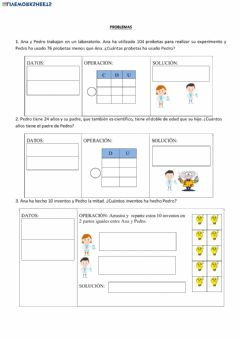 Interactive worksheet Problemas doble y mitad