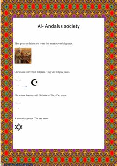 Interactive worksheet Al Andalus society