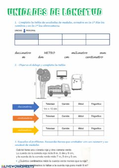 Interactive worksheet Medidas de longitud