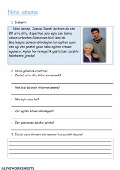 Interactive worksheet Nire amona