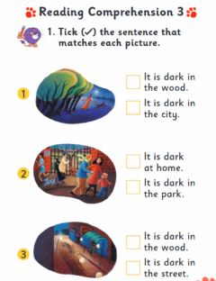 Interactive worksheet KG2 In the Dark listening-reading