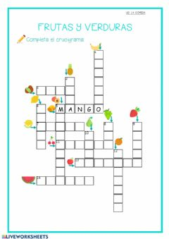 Interactive worksheet CRUCIGRAMA FRUTA