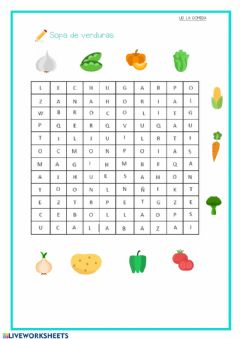 Interactive worksheet Sopa de verduras