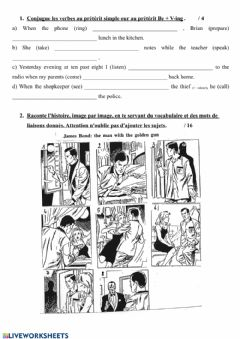 Interactive worksheet Practice preterit simple and continuous