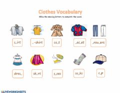 Interactive worksheet Clothes Vocabulary 2