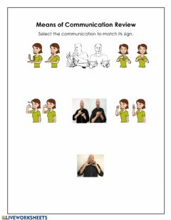 Interactive worksheet Communication Vocabulary Review