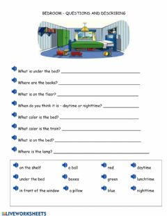 Ficha interactiva WH questions listening comprehension