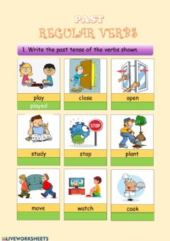 Ficha interactiva PAST TENSE Regular Verbs Practice