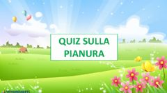 Interactive worksheet Quiz Pianura