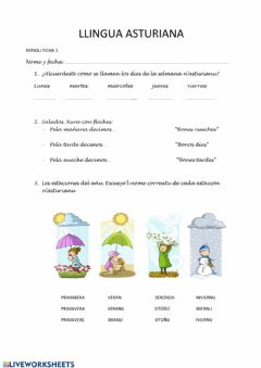 Interactive worksheet Repasu 1