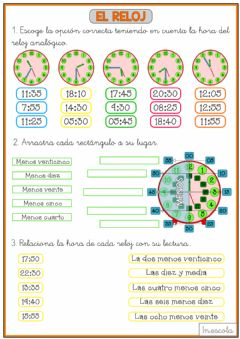 Interactive worksheet Relojes 4