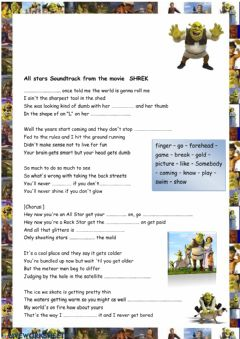 Interactive worksheet Song All Star