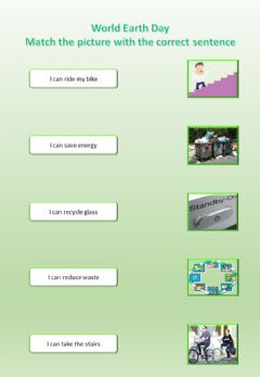 Interactive worksheet World Earth Day - good practices 2