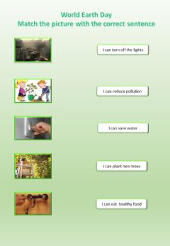Interactive worksheet World Earth Day - good practices 1