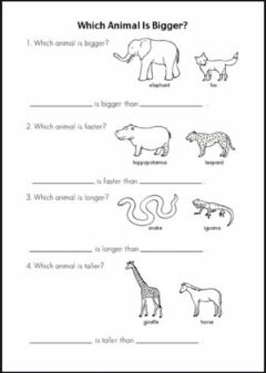 Interactive worksheet Animal differences