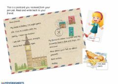 Interactive worksheet Writing a letter