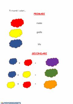 Interactive worksheet I colori complementari