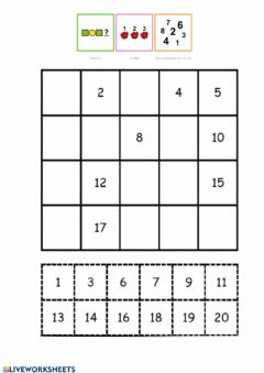 Interactive worksheet Completar tabla 1-30