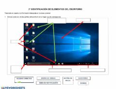 Ficha interactiva Escritorio de Windows