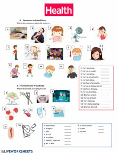 Interactive worksheet Health!