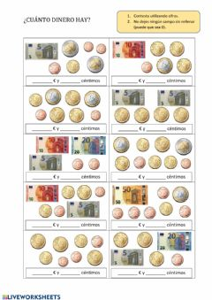 Monedas Y Billetes Worksheets And Online Exercises