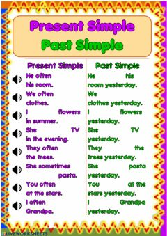 Interactive worksheet Present Simple and Past Simple