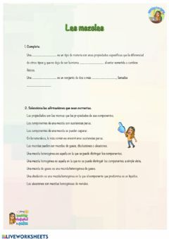 Interactive worksheet Naturales - Las mezclas