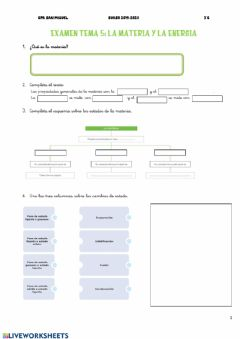 Interactive worksheet Tema 5 naturales