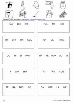Interactive worksheet Une sílabas 10
